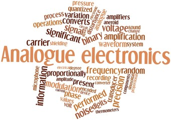 Word cloud for Analogue electronics