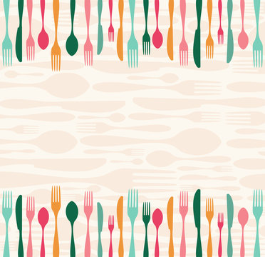Silverware seamless pattern