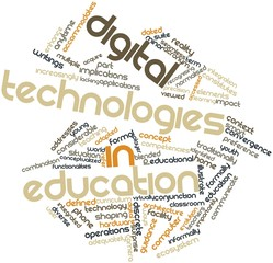Word cloud for Digital technologies in education
