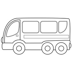 Bus toy. Vector illustration