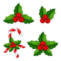 Christmas Holly Berry Set