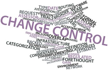 Word cloud for Change control