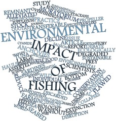 Word cloud for Environmental impact of fishing