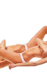 two women bodies