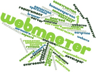 Word cloud for Webmaster