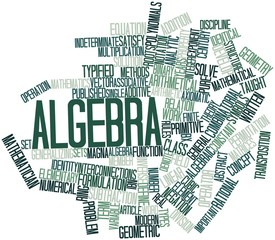 Word cloud for Algebra