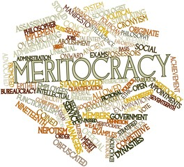 Word cloud for Meritocracy