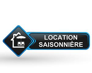 location saisonnière sur bouton web carré design bleu