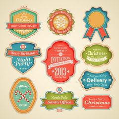 Wall Mural - Christmas set - scrapbook labels and emblems.