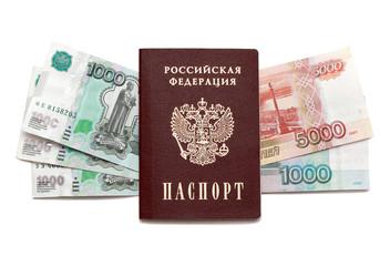 Passport and russian money