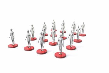 group of Display dummies - mannequins