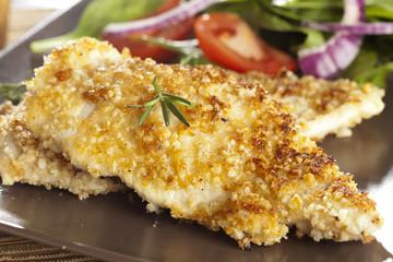 Organic Homemade Breaded Chicken