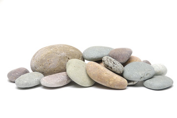 zen stones on pile studio