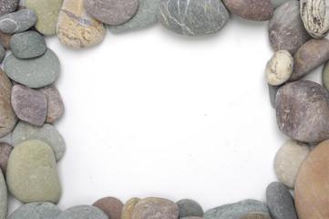 sea stones frame colored