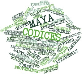 Word cloud for Maya codices