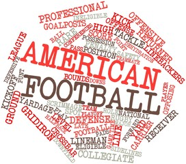 Word cloud for American football