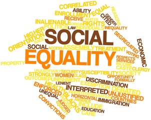 Word cloud for Social equality