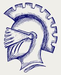 Helmet. Doodle style