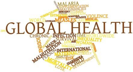 Word cloud for Global health