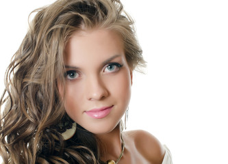 The sensual girl with beautiful hair