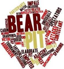 Word cloud for Bear pit