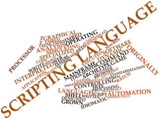 Word cloud for Scripting language
