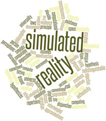 Word cloud for Simulated reality