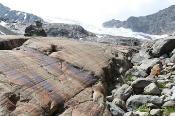 Felsen mit Gletscherschliff