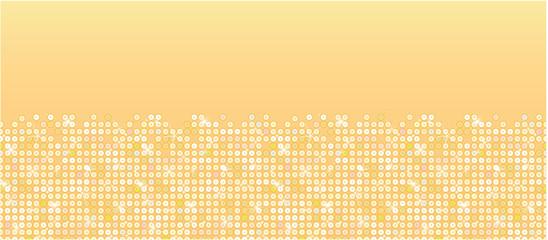 Vector golden sparkles horizontal seamless pattern background