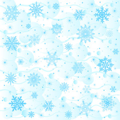 vector snowflake background