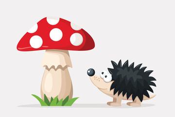 hedgehog_and_mushroom