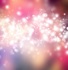 Beautiful bright snowflake pink background with copyspace