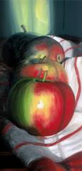 Äpfel in herbstlicher Sonne