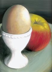 Ei mit Apfel