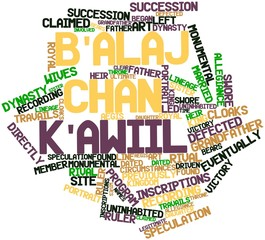 Word cloud for B'alaj Chan K'awiil