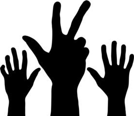 Black hands