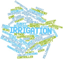 Word cloud for Irrigation