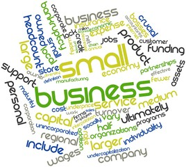 Word cloud for Small business