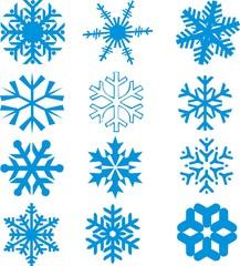 12 flocons de neige