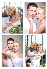 collage verliebtes pärchen