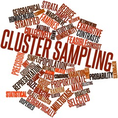 Word cloud for Cluster sampling