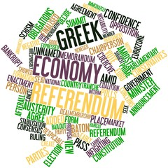 Word cloud for Greek economy referendum