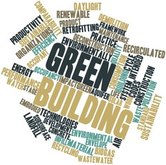 Word cloud for Green building