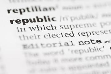 Macro Dictionary Word: Republic.