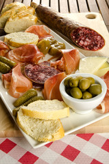 Homelike italian appetizer