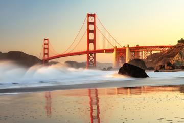 Foto auf Acrylglas San Francisco Golden Gate Bridge San Francisco