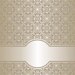 Luxury silver ornamental Background.