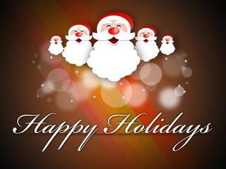 Happy Holidays / Santa Illustration