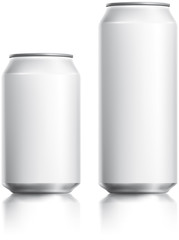 White can vector visual 330 ml & 500 ml,  Drawn with mesh tool.