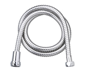 Chrome hose water cable the bathroom accessory isolated
